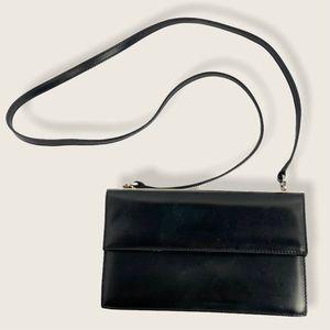 Salvatore Ferragamo Black Leather Shoulder Purse